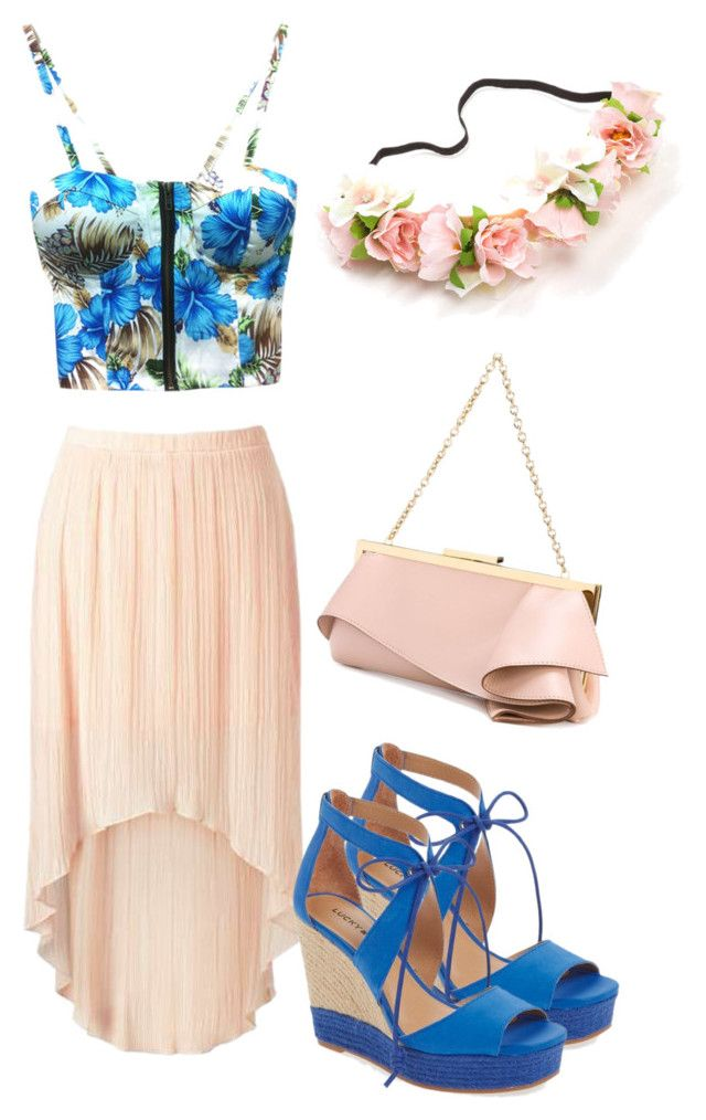 """Outfit Primaveral"" by turbopeka on Polyvore featuring moda, Lucky Brand y Emanuel Ungaro"