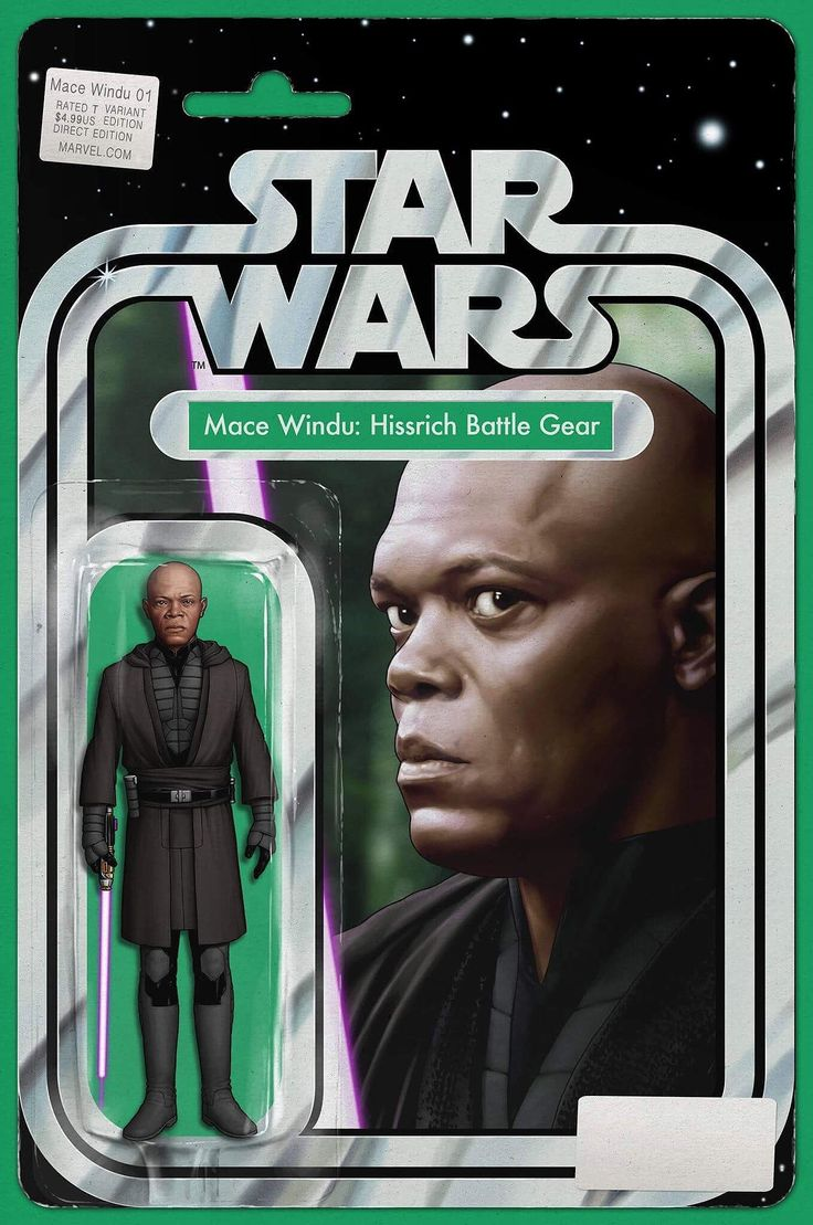 Marvel Comic Book Artwork • STAR WARS: MACE WINDU #1 John Tyler Christopher Action Figure Variant Cover. Available to buy at our online store www.7ate9comics.com