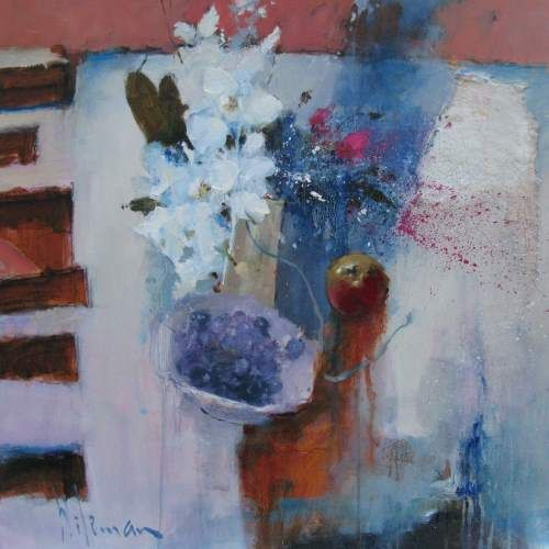 Still Life with Orchids by Peter Wileman PPROI RSMA EAGMA FRSA