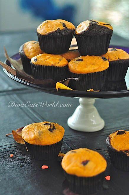 Chocolate-Pumpkin Black Bottom Cupcakes1