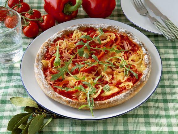 Paprika-Schinkenpizza ist ein Rezept mit frischen Zutaten aus der Kategorie Pizza. Probieren Sie dieses und weitere Rezepte von EAT SMARTER!