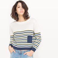 image Пуловер укороченный в полоску R édition