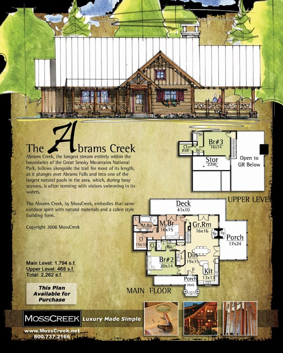 133 best images about blue print on pinterest craftsman for Moss creek home designs