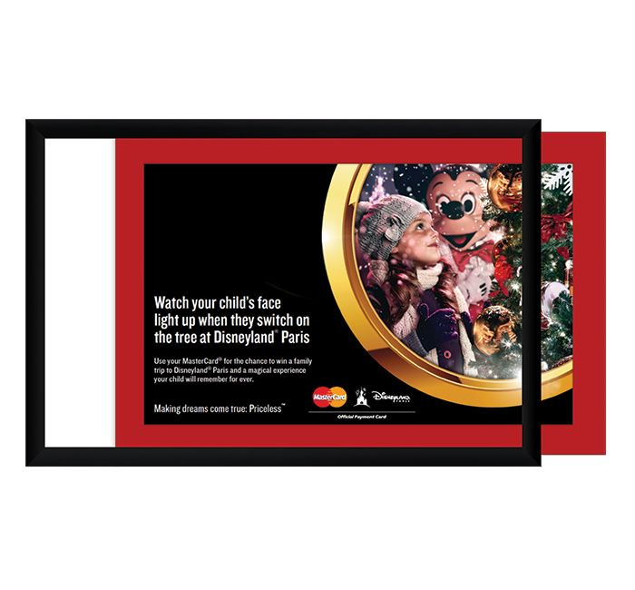 0a295cb69704 This poster & sign frame loads from the side and is ideal for all kinds of  printed graphics. If you don't have the wall space for a top loading Euro- Style ...