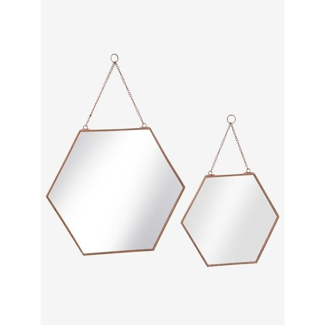 Les 25 meilleures id es de la cat gorie miroir hexagonal for Decoration murale hexagonale