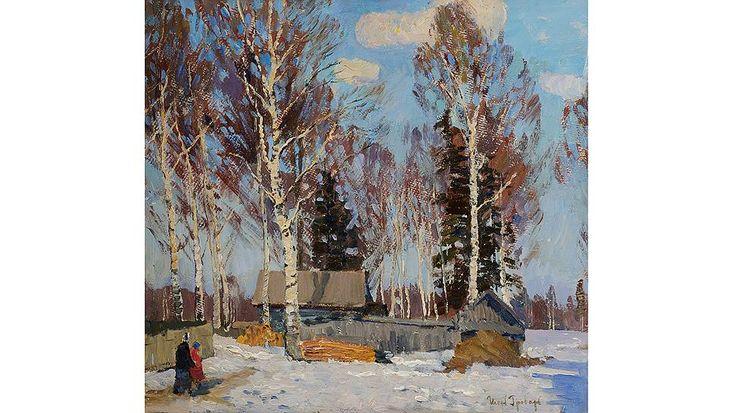 """Игорь Грабарь. """"Зимний пейзаж"""", 1940-1950 годы"""