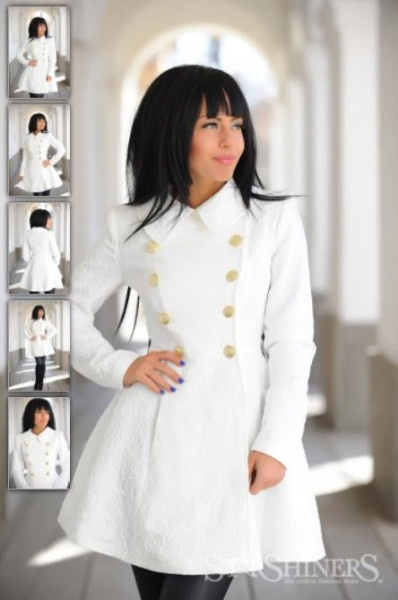 Trench alb LaDonna Magic Brodery White #ladonna