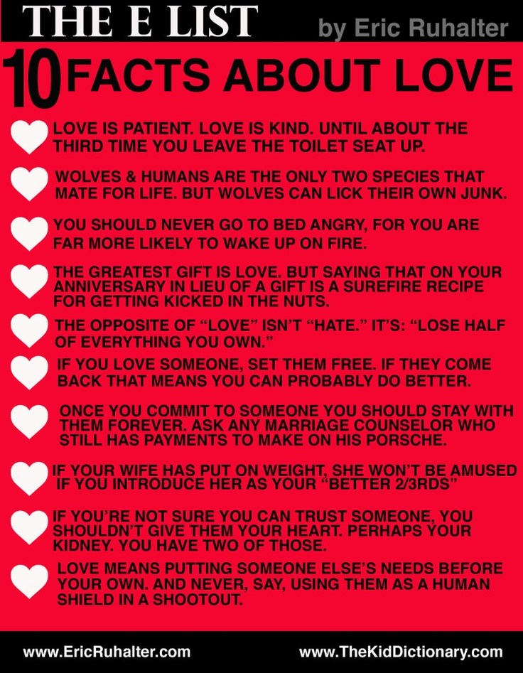 20 Interesting Facts About Love