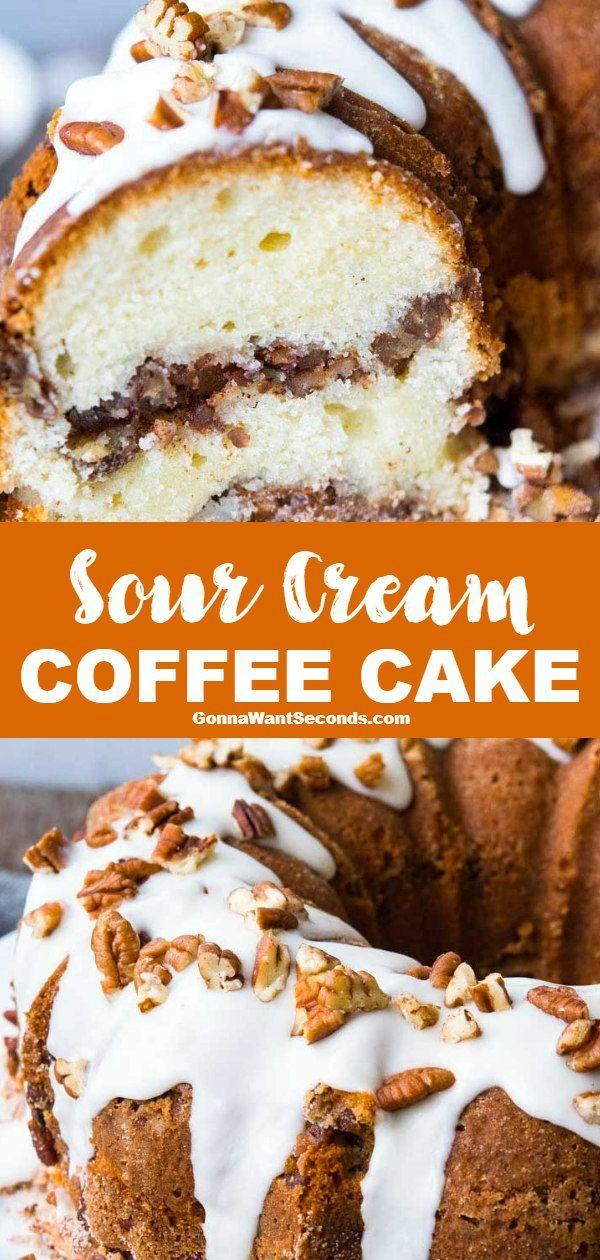 Sour Cream Coffee Cake Recipe Sour Cream Coffee Cake Coffee Cake Recipes Easy Coffee Cake Recipes