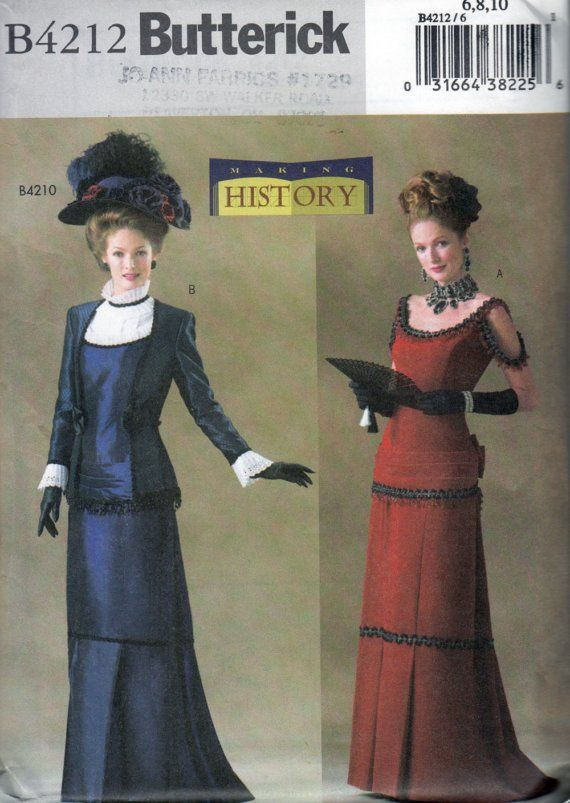 Butterick 4212 Victorian Dress Costume Sewing Pattern