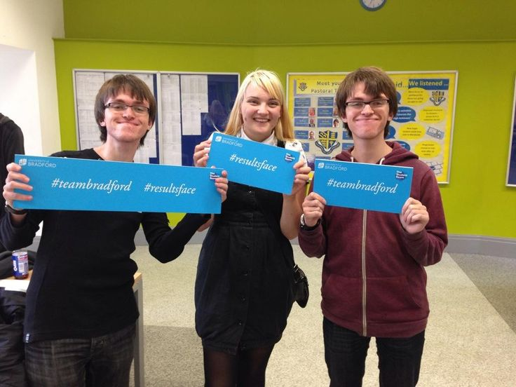 Congrats to these A-Level students at Xaverian College in Manchester! #teambradford #resultsface