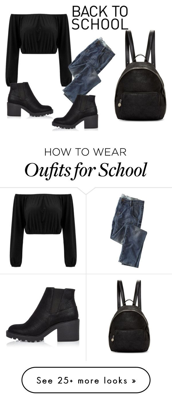 """""""School"""" by wupps on Polyvore featuring Wrap, River Island and STELLA McCARTNEY"""
