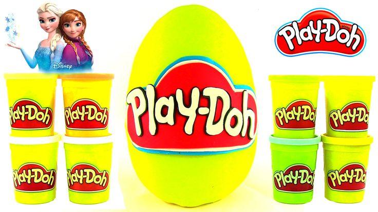Play Doh Oyun Hamuru DEV Sürpriz Yumurta Açma Disney Frozen Pizza Seti H...