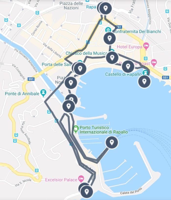 Rapallo Gateway To Cinque Terre And Portofino Walking Tour Map Guide