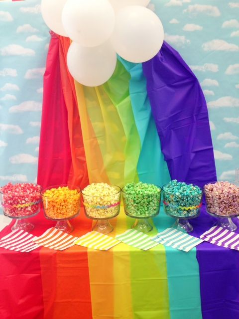 Fun Idea!! A Rainbow Popcorn Buffet