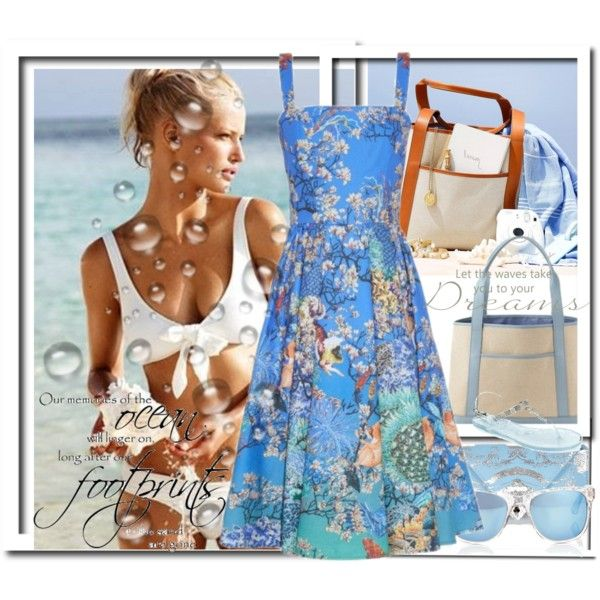 COOL BLUE WATER CONTEST by anneanton on Polyvore featuring Mary Katrantzou, Godiva, GiGi New York, Taylor Morris, Topshop and FOOTPRINTS