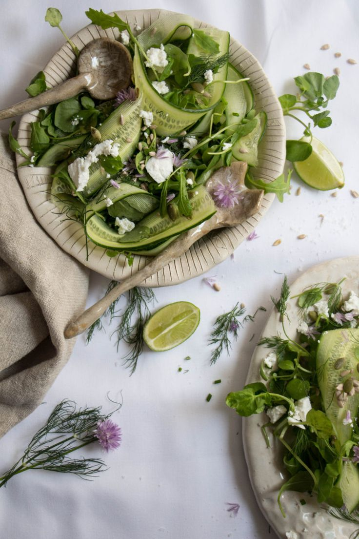 ... cucumber rocket and watercress salad with seeds and goats cheese ...