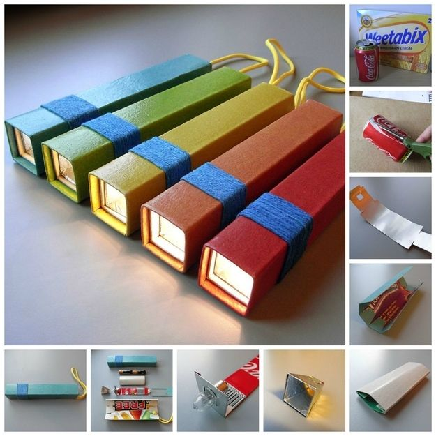 Flashlight | 31 Things You Can Make Out Of Cereal Boxes