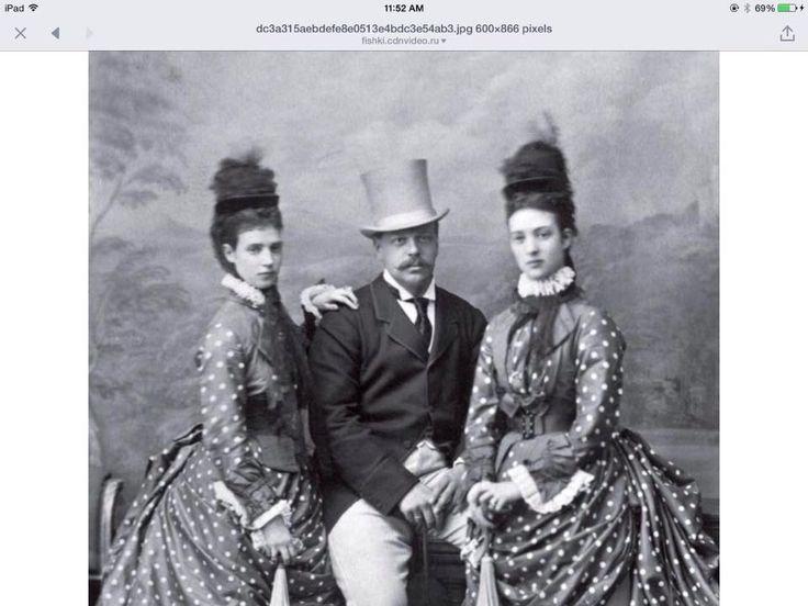 Император Александр III, Императрица Мария Федоровна и принцесса Александра Уэльская, сестра Марии Федоровны.
