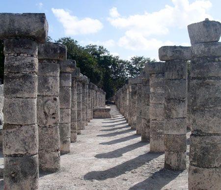 Mayan Pillars