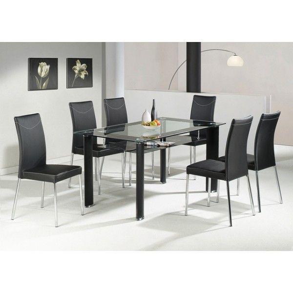 Elegant Black Glass Dining Table Modern Arts White Interior Design