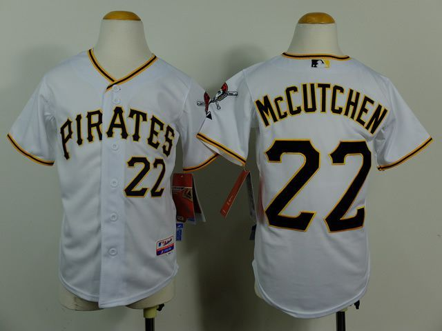 best sneakers be07a b04ee Youth MLB Pittsburgh Pirates 22 Andrew McCutchen White 2014 ...