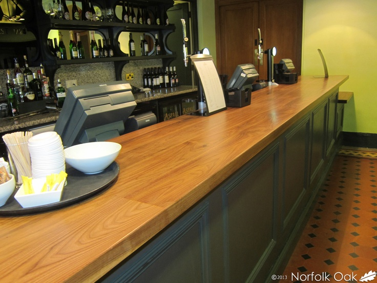 Our worktops with our two part finish at The Royal Albert Hall still look incredible.  http://www.norfolkoak.com/commercial-joinery/