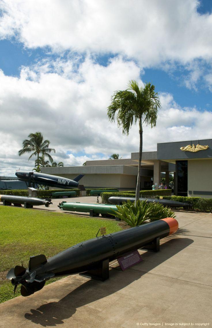 Hawaii, Oahu, Honolulu, Pearl Harbor, Submarine torpedos at Pearl Harbor Memorial.