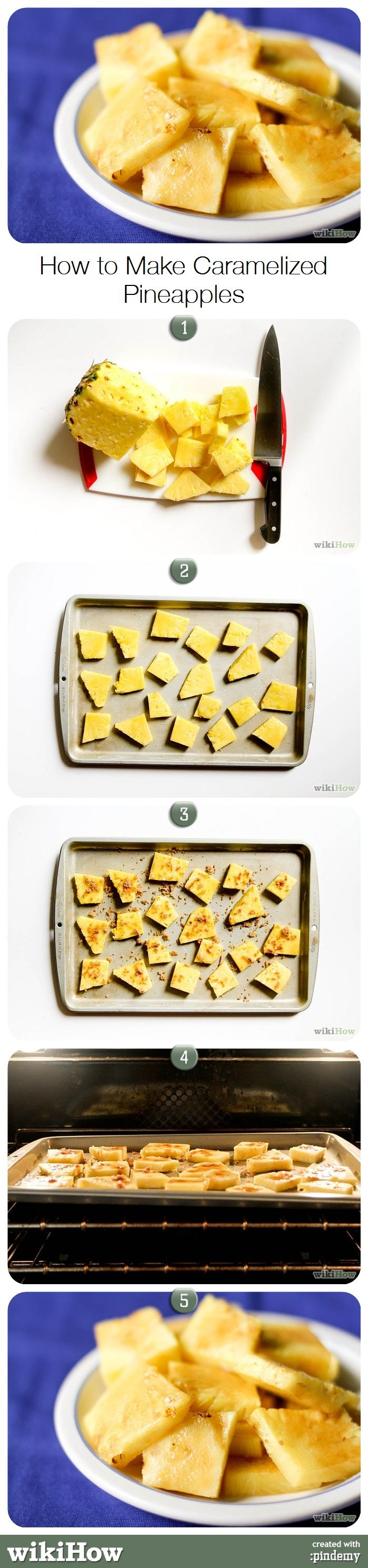 How to Make Caramelized Pineapple Slices #food #dessert