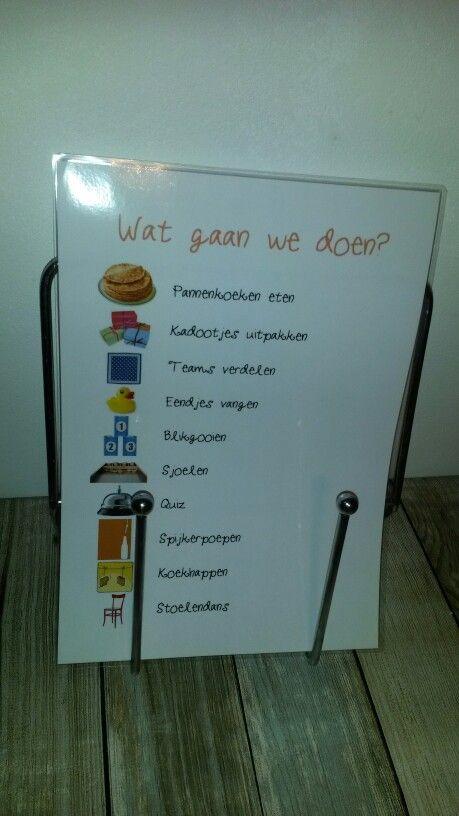 Programma Oud Hollandsch kinderfeestje. Niet alleen handig voor de ouders, maar ook voor de kinderen!
