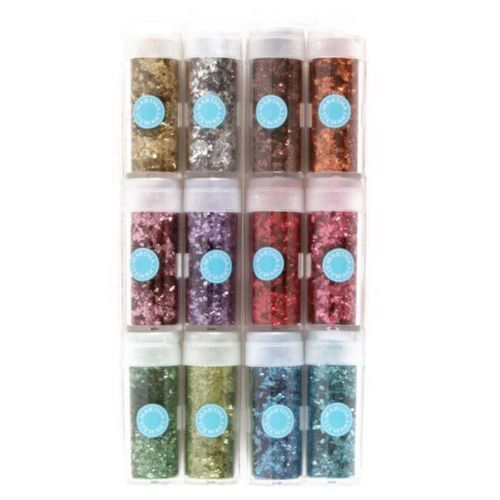 NEW-Martha-Stewart-VINTAGE-LEAF-GLITTER-12x-Colours