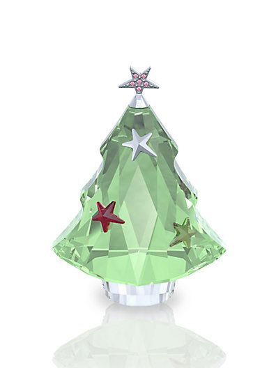 Swarovski Christmas Tree Decoration Set : Best images about glass crystal trees on