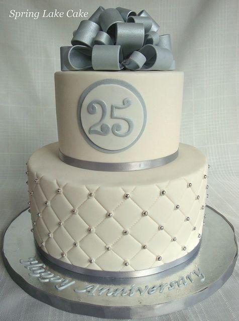 Silver Anniversary Cake by springlakecake, via Flickr