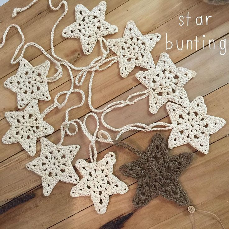 """""""Just put this up in the shop - just a little bit Christmas. Too soon?? #handmade #ethicallymade #star #garland #bunting #perthkids #theperthcollective…"""""""