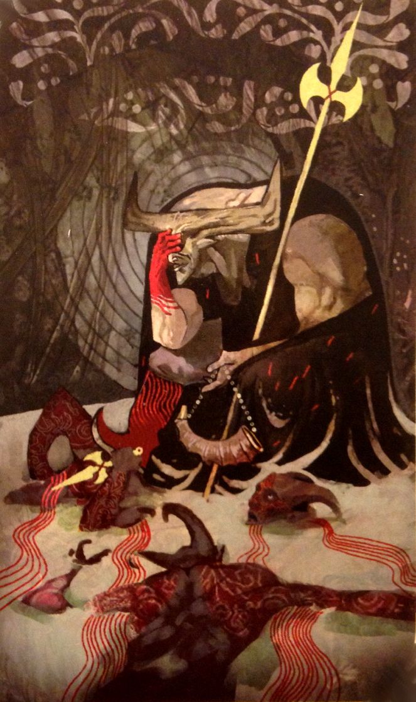 Dragon Age Inquisition - Iron Bull tarot card (tal-vashoth) <~~ I felt bad, but I couldn't let Krem die.