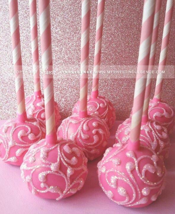 Glitter popcakes