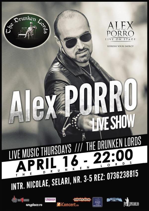 Live Thursdays with Alex Porro | PeLipscani.RO | Ghid dedicat Centrului Vechi | Petreceri in Bucuresti | Sambata seara | Centrul Istoric