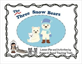"""Differentiated Literacy and Math Center Activities based on the book,"""" The Three Snow Bears by Jan Brett."""""""