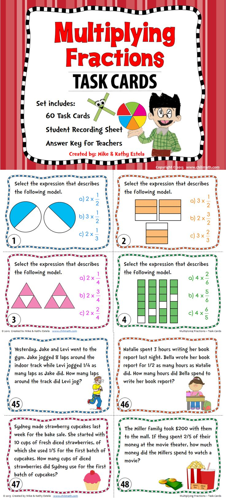 25 great ideas about multiplying fractions on pinterest math fractions teaching fractions. Black Bedroom Furniture Sets. Home Design Ideas