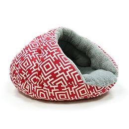 Уютная кровать для пещерной кровати / Маленькая кровать для собак - Современный красный