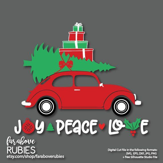Car With Christmas Tree On Top Instant Download You Will Receive One Zip File Conta Christmas Tree With Gifts Christmas Tree Stencil Christmas Tree Truck