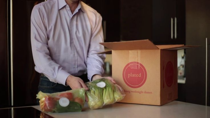 "Plated -- Recipe cards and ingredients delivered. Discount for bulk order concept, and ""membership options"" or pay as you go! Green Box with support for food bank. locally sourced,"