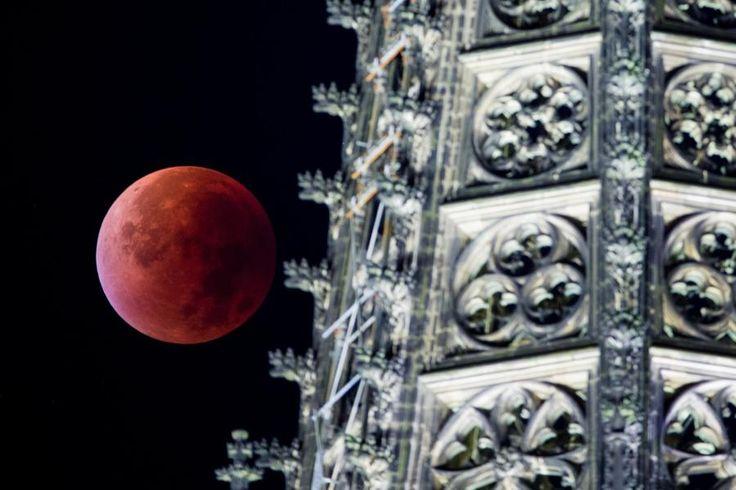 Riesig und rot: Der Mond war heute Nacht der Erde nicht nur besonders nah, sondern stand auch noch in ihrem Schatten – eine totale Mondfinsternis. Die schönsten Eindrücke aus Europa und Amerika.