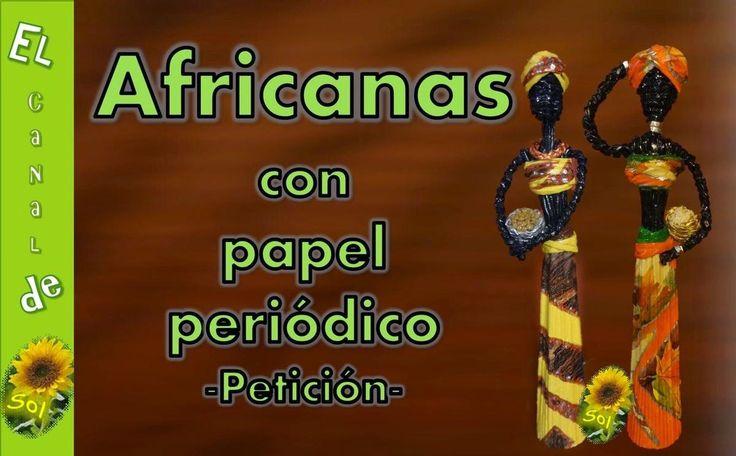 Muñecas africanas hechas con papel de periódico, paso a paso