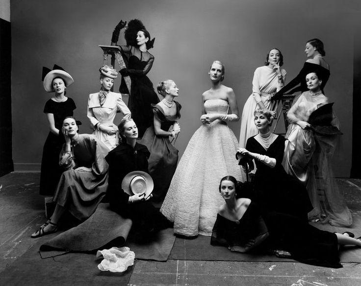 Irving Penn The Twelve Most Photographed Models , New York, 1947 Gelatin silver print © Condé Nast