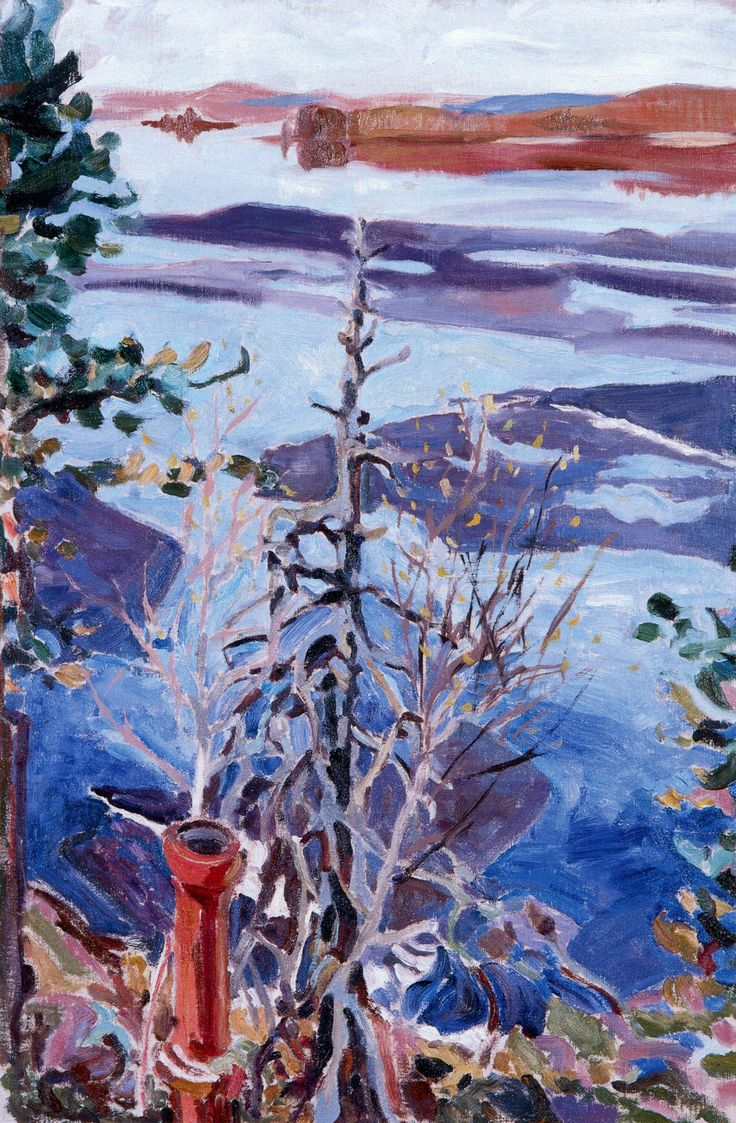 Spring Ice as Seen from the Roof of Kalela Akseli Gallen-Kallela - 1916