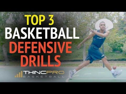 Top 3 BASKETBALL DEFENSIVE DRILLS - How to Improve Quickness for Basketball Defense - YouTube