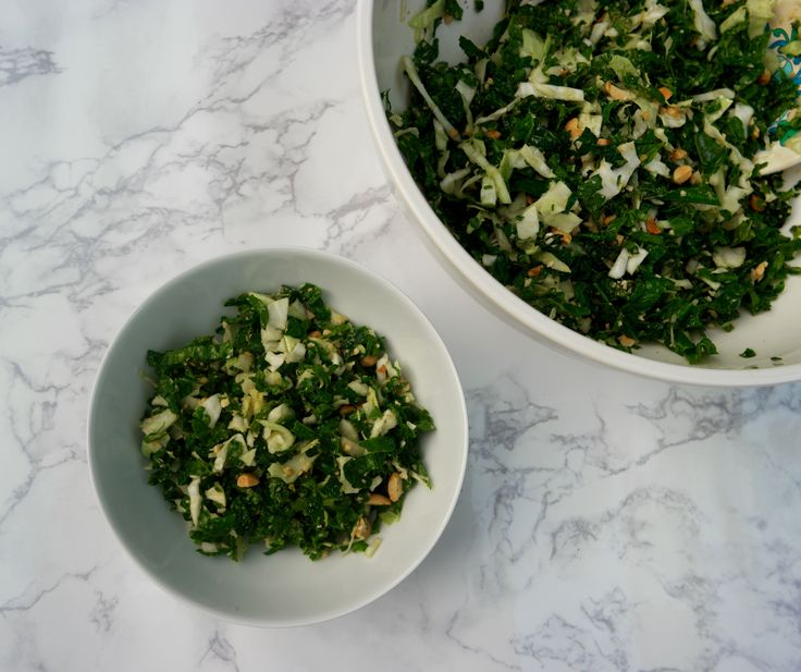 Kale Salad with Peanut Dressing Inspired by Hillstone Restaurants