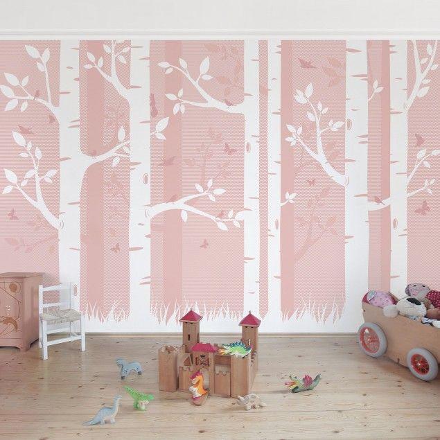 die besten 25 fototapete birkenwald ideen auf pinterest. Black Bedroom Furniture Sets. Home Design Ideas