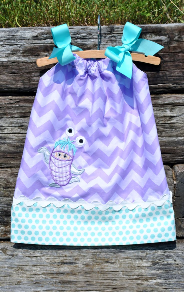 Custom Monsters Inc Boo Girl Pillowcase Dress.  Sizes 6m - 8y.  By Hoot n Hollar Childrens Clothing by HootnHollarClothing on Etsy https://www.etsy.com/listing/235361286/custom-monsters-inc-boo-girl-pillowcase